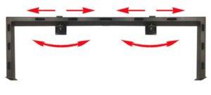 Настольный кронштейн для LCD мониторов (с кабельным каналом внутри).