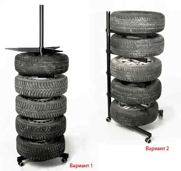 Стойка для хранения а/м колес