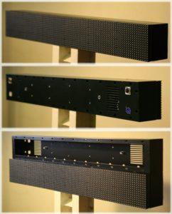 корпус для светодиодных модулей 160х160 в конфигурации 6х1
